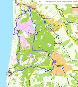 Schoorlse duinen route